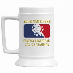 Fantasy Basketball Champion's Stein
