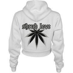 Shrub Love Weed Leaf Crop Hoodie