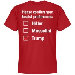 Donald Trump Fascist Preference