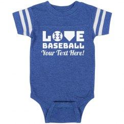 Baseball Cheerleader Baby Bodysuit