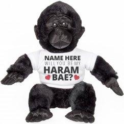 Custom Harambe Valentine's Gorilla