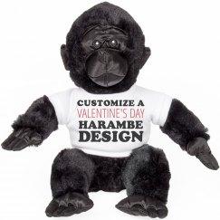 Custom Valentine's Harambe Gorilla