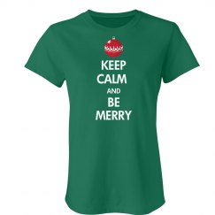 Keep Calm Be Merry Green