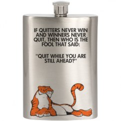 Tiger/Quote Flask