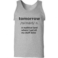 Tomorrow Definition Tank