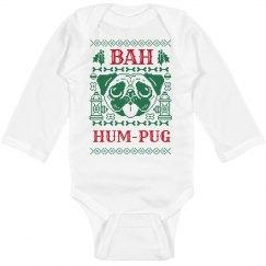 Bah Hum-Pug Christmas Onesie