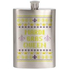 Mardi Gras Queen Flask