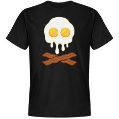 Bacon And Eggs Skull