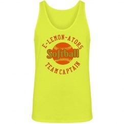 Neon Softball Team Tank