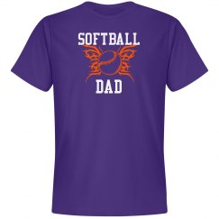 Purple Softball Dad Tshirt
