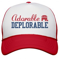 Adorable Deplorable Trump Hat