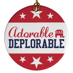 Adorable Deplorable Trump Ornament