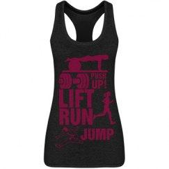 Lift,Run,Jump,Push Up!