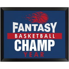 Fantasy Basketball Plaque