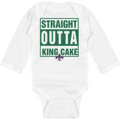 Baby Is Straight Outta King Cake