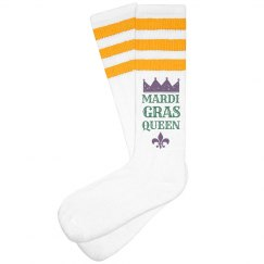 Mardi Gras Queen Socks