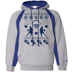 Basketball Ugly Christmas Hoodies