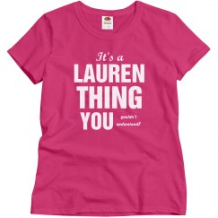 It's a Lauren thing