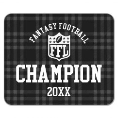 Custom Year Fantasy Football League Champion Prize
