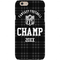 Fantasy Football Champion Prize Custom Year Phone Case