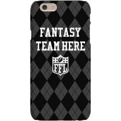Custom Team Name Fantasy Football Phone Case Argyle