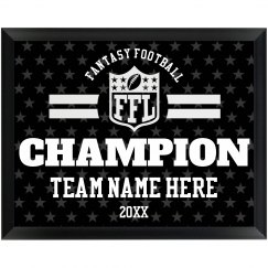 Custom Team Fantasy Football Champion Prize Award
