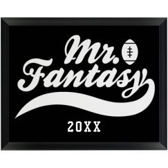 Mr. Fantasy Football Champion Custom Year Award Prize