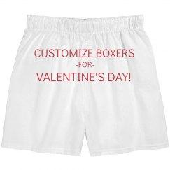 Custom Valentines Boxers
