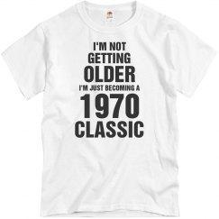 1970 classic birthday shirt