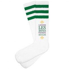 Laissez Les Bons Mardi Gras Socks