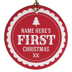 1st Christmas Custom Name
