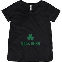 100% Irish St Pattys Maternity Top