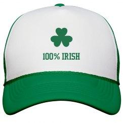 100% Irish St Pattys Hat