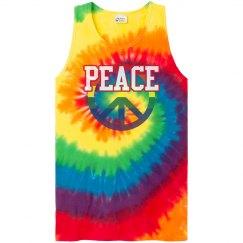 Peace Tie-Dye Tank Top