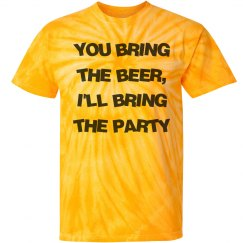 You bring the beer