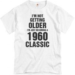 1960 classic birthday shirt