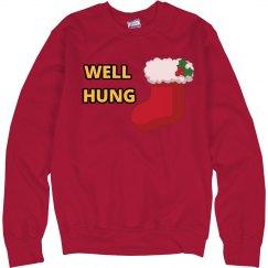 Well Hung Christmas Shirt