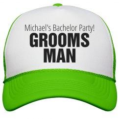 Groomsman Neon Hat