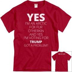 Arctic Fox Otherkin Trump Voter