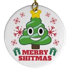 Merry Shitmas Emoji Ornament