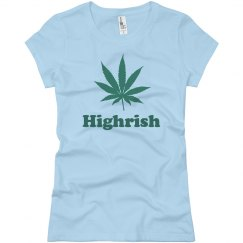 Highrish Women's Weed Tee