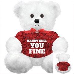 Allover Print Valentines Bear