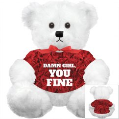 Allover Print Valentines Bear