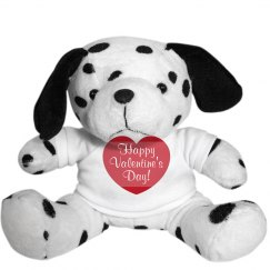 Happy Valentine's Day Dalmation