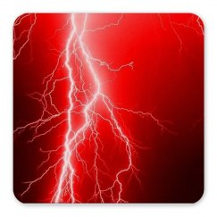 Red Lightning Magnet