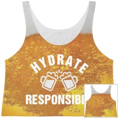 Hydrate Responsibly Beer Crop Top