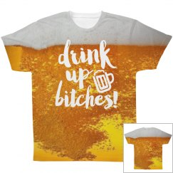 Drink Up Beer All Over Print