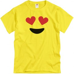 Funny Love Eyes Emoji Costume