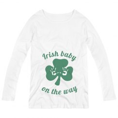 Irish Baby on the Way St Patricks Maternity Top