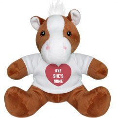 Aye He's Mine Valentines Teddy